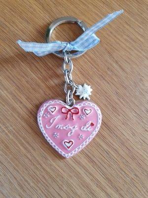 Key Chain light grey-light pink
