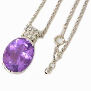 Unbranded Amethyste & Diamond Chain