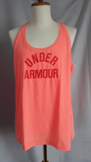 Under armour Top deportivo sin mangas albaricoque