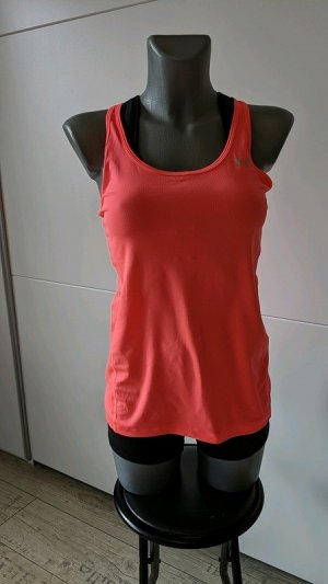 Under Armour NEU heatgear XS 32 34 neon rot orange Top Sporttop Tanktop