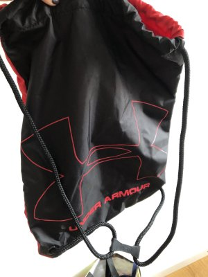 Under armour Borsa sport nero-rosso scuro