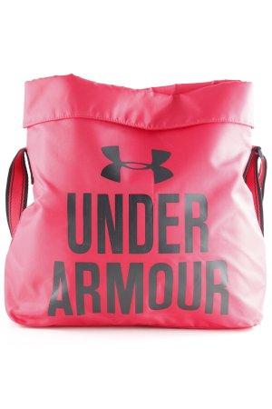 Under armour Stofftasche himbeerrot-schwarz grafisches Muster sportlicher Stil