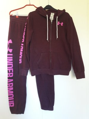 Under Armour Sweat Jogginganzug weinrot pink Gr. M