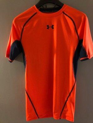 Under armour Débardeur marcel orange fluo-noir
