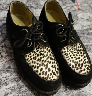 Underground Lace Shoes black-sand brown leather