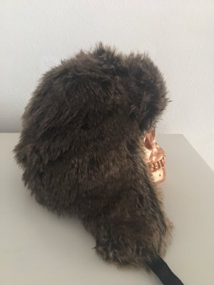 H&M Divided Fur Hat multicolored
