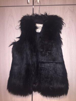 Abercrombie & Fitch Bontgilet zwart