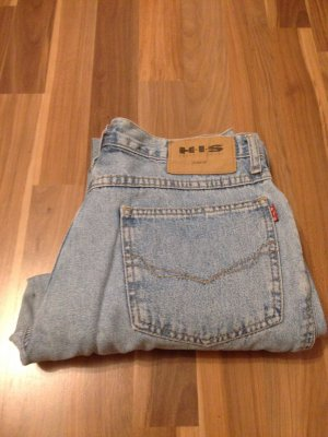 Unfit Denim leicht Schlag Flare HIS Retro Vintage Mom crop 36 90er 80er blogger
