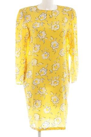 Ungaro Robe chemisier jaune primevère-blanc imprimé allover