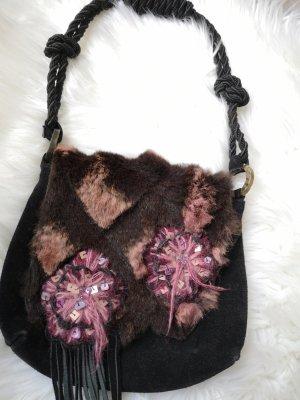 Emanuel Ungaro Fringed Bag black-raspberry-red