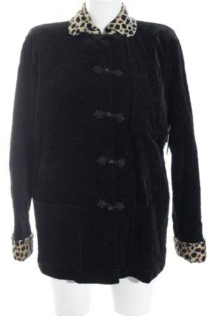 Ungaro Kurzjacke schwarz-hellbeige Leomuster klassischer Stil