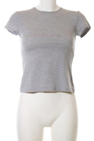 Ungaro T-Shirt hellgrau meliert Casual-Look