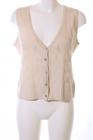 Unger Cardigan creme Zopfmuster Casual-Look