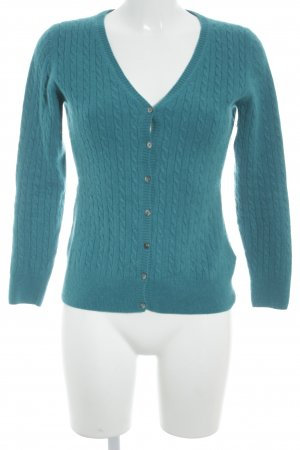 Unger Strick Cardigan kadettblau Zopfmuster Casual-Look