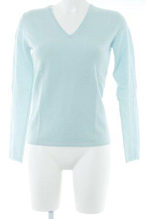 Unger V-Ausschnitt-Pullover babyblau Casual-Look