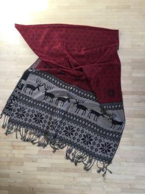 Ungetragen: doppelseitig tragbarer weicher Schal mit Wintermuster, 70x200cm