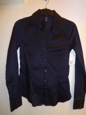 Ungetragen +++ Dunkelblaue H&M-Bluse mit langem Arm