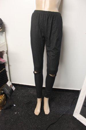 Ungetragen High Waist Treggings Hose mit Schlitzen an den Knien Gr XL