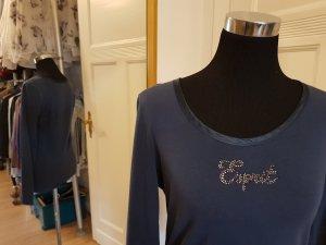ungetragen: Langarm-Shirt mit glitzerndem Logo-Print, Gr. M