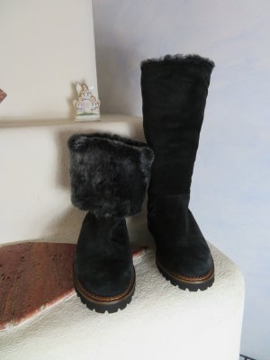 Sioux Fur Boots black-anthracite suede