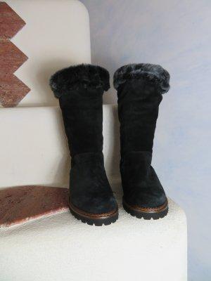 Sioux Botas de piel negro-gris antracita Gamuza