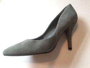Mango High Heels grey-dark grey leather