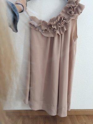 UNGETRAGEN Rosafarbenes Kleid mit Rüschen H&M Premium Größe 36