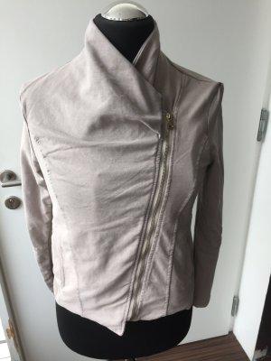 ungetragen - Shirtjacke Gr. L Schalkragen Farbe Taupe