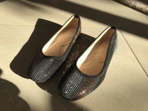 Ungetragene Baldinini Ballerinas Loafers, Echtleder, Größe 38,5, NP 449€
