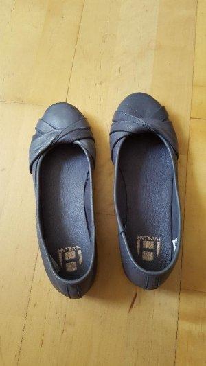 Ballerines Mary Jane bleu azur cuir