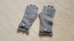 Knitted Gloves dark grey-grey