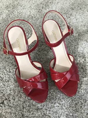 Ungetragene High Heels von Graceland in Lackrot