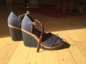 Tommy Hilfiger Platform High-Heeled Sandal brown-dark blue