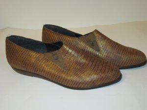 Vintage Pantofola oro-marrone