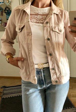 Ungetragene Jeansjacke von H&M in blassrosa