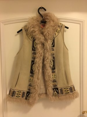 Tory Burch Fur vest multicolored leather