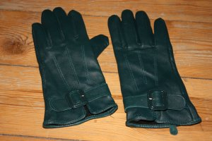 Gloves petrol leather