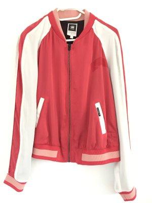 Gstar College Jacket bright red-white