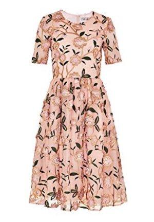 Ungetragene Mesh-Kleid mit Blumenstickerei