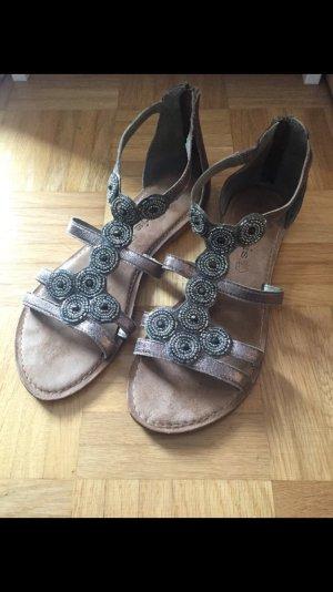 Ungetragene Metallic Sandalen