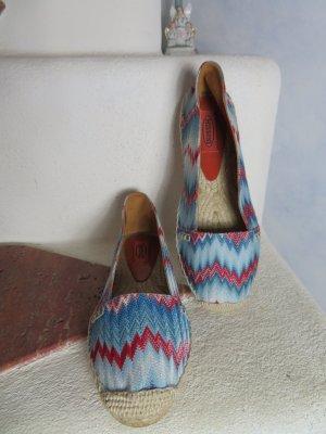 Missoni Espadrille sandalen veelkleurig Textielvezel