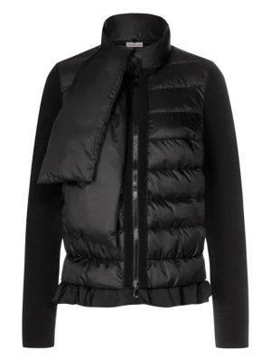 Ungetragene Moncler Jacke mit abnehmbarem Daunenschal