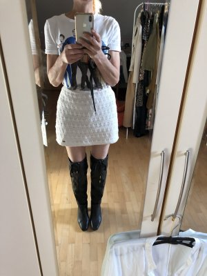 Zara Kniehoge laarzen donkerbruin-zwart