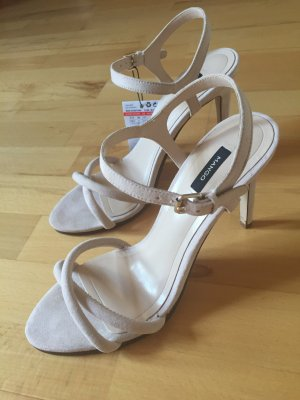 Mango High-Heeled Sandals cream
