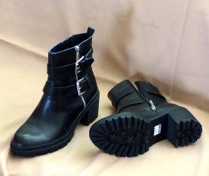 Tamaris Bottillons noir cuir