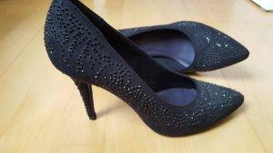 ungetragene schwarze High Heels, Größe 39