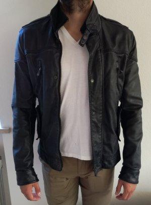 Ungetragene schwarze Kunstlederjacke für MännerGr 36