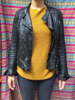 Ungetragene schwarze Replay Lederjacke in 36 zu verkaufen