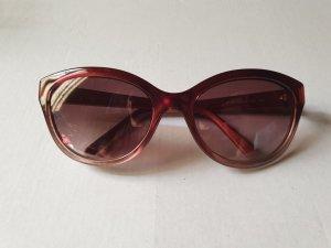 Valentino Ovale zonnebril donkerrood-karmijn