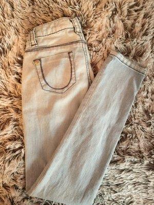 Ungetragene Weiß-Blau gestreifte Bluefire Jeans